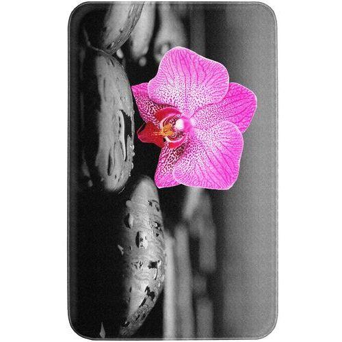 """Dywaniki łazienkowe """"Blossom"""", pianka memory bonprix szaro-różowy"""