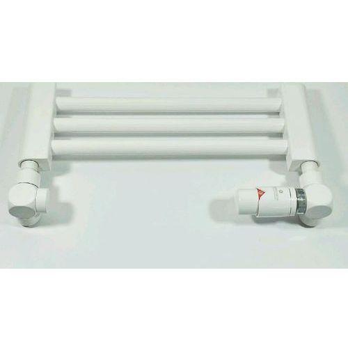 Schlosser Zestaw termostatyczny osiowo prawy na stal exclusive 6017 00150 biały