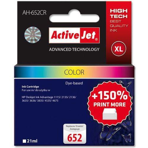 Activejet tusz AH-652CR / F6V24AE nr 652 (color) Darmowy odbiór w 19 miastach! (5901443103004)