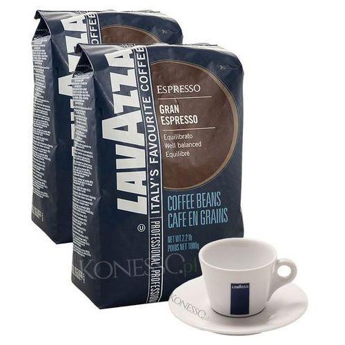 ZESTAW - Kawa Lavazza Grand Espresso 2x1kg + Filiżanka Lavazza