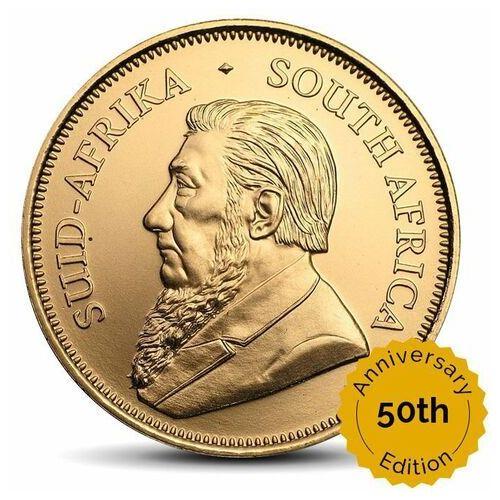 Rand rafinery Krugerrand 1 uncja złota - 50. rocznica wydania monety