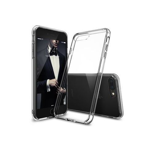 Apple iPhone 7 Plus - etui na telefon Ringke Fusion - transparentny, ETAP417RGFUCLR000