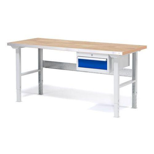 Stół warsztatowy solid, zestaw z 1 szufladą, 750 kg, 1500x800 mm, dąb marki Aj produkty