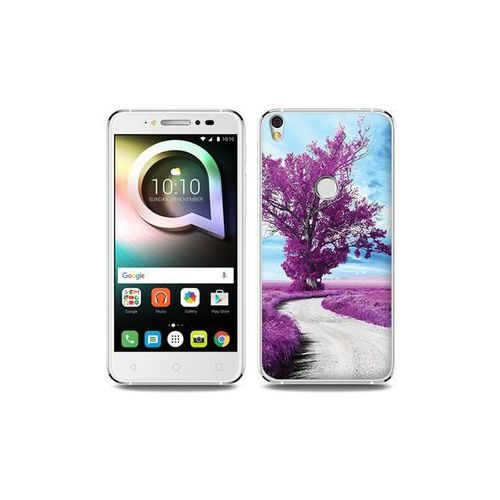 Alcatel Shine Lite - etui na telefon Foto Case - purpurowe drzewo, ETAL431FOTOFT079000