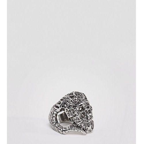 chunky skull ring - silver marki Sacred hawk