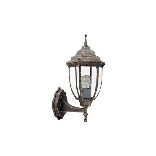 Kinkiet lampa oprawa ścienna zewnętrzna Rabalux Nizza 1x60W E27 IP43 antyczne złoto 8452, 8452