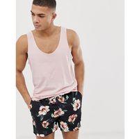 Abercrombie & Fitch 5 inch floral print swim shorts in black - Black, w 2 rozmiarach