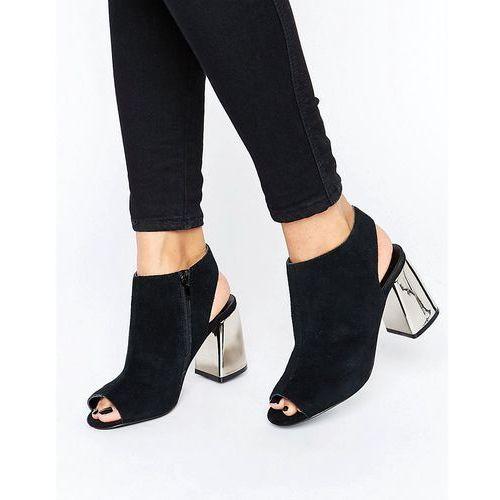New Look Metal Heel Slingback Heeled Shoe Boot - Black ()