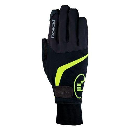 Roeckl reggello gtx rękawiczka rowerowa żółty/czarny 10 2017 rękawiczki zimowe (4044791405237)