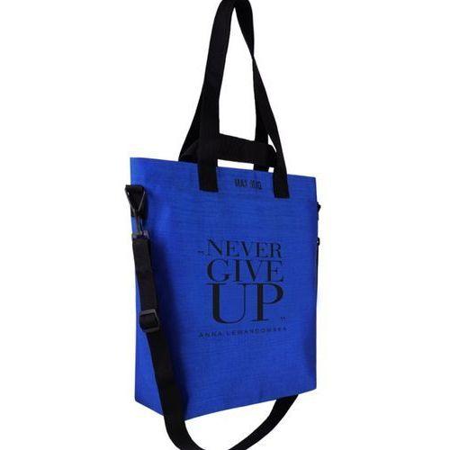Healthy Plan by Ann - Torba Cargo Never Give Up niebieska + lunch box na sałatki, kolor niebieski