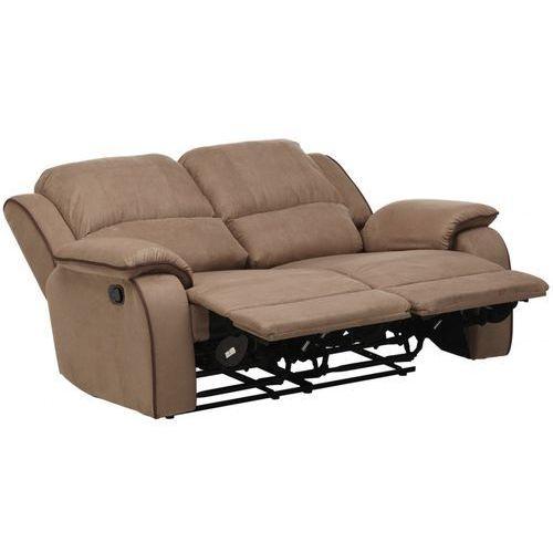 2-osobowa sofa z funkcją relaks z mikrofibry hernani - taupe marki Vente-unique