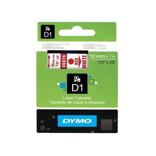 taśma d1 12mm x 7m, czerwony na białym marki Dymo