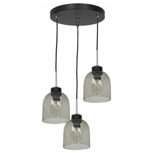 Luminex Bogota 1754 lampa wisząca zwis 3x60W E27 czarna/dymiona