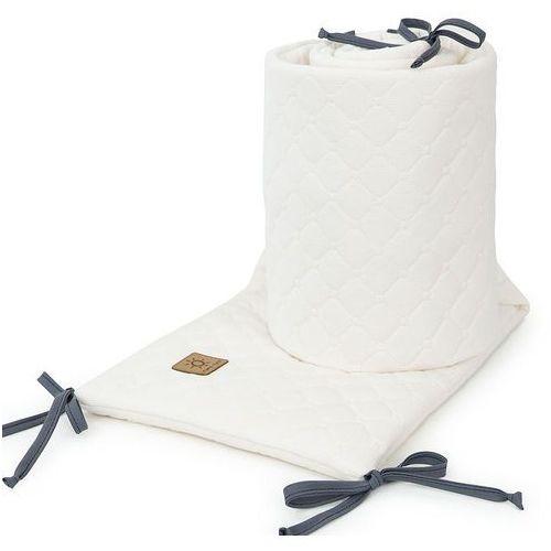 Mamo-tato ochraniacz do łóżeczka 60x120 oraz 70x140 velvet pik - ecru