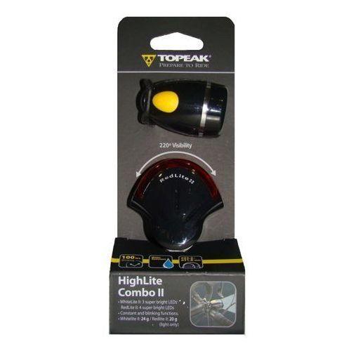 TOPEAK HighLite Combo II - Zestaw lamp, czarny