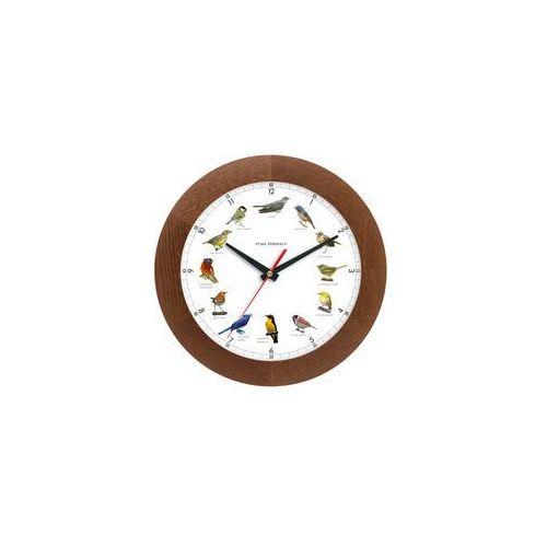 Zegar z głosami ptaków drewniany solid #1A, ATW300PT1