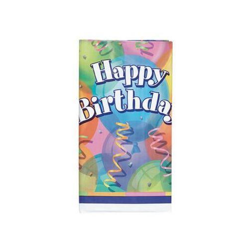 Obrus urodzinowy happy birthday baloniki - 137x213 cm - 1 szt. marki Unique