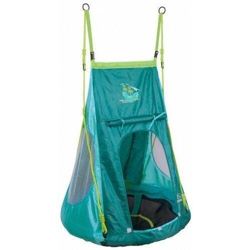Huśtawka bocianie gniazdo z namiotem pirat- pełne siedzisko 90 cm dla dzieci marki Hudora