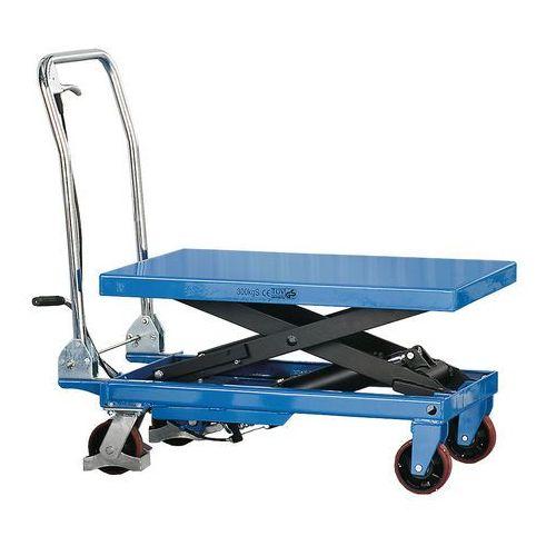 Hydrauliczny wózek podnoszący. Nośność: Obciążenie:500 kg Wymiary platfor