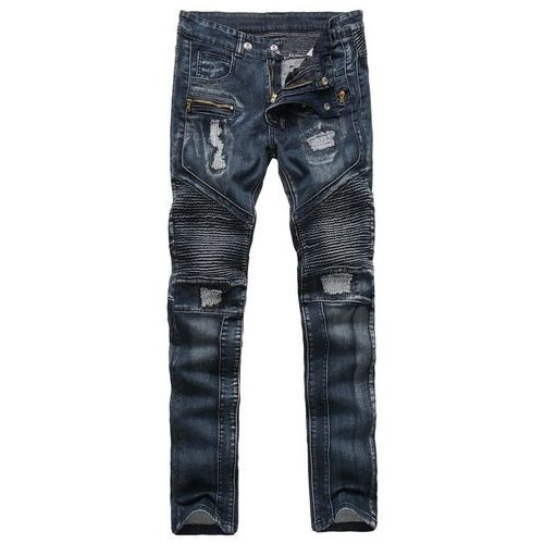 Ribbed Zippered Ripped Jeans, jeans