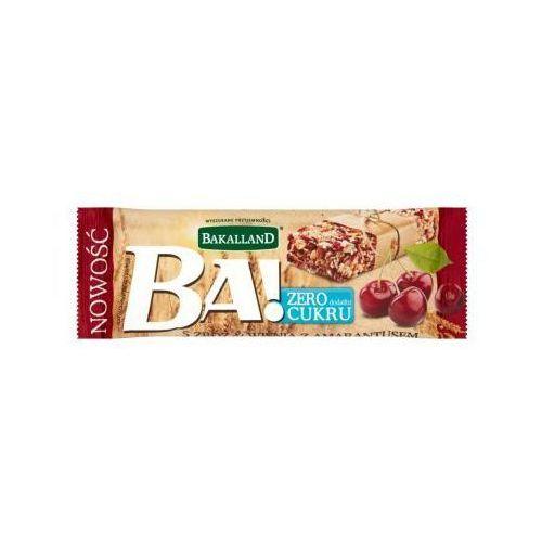 BAKALLAND 30g Ba! Baton zbożowy 5 zbóż wiśnia z amarantusem (5900749624749)