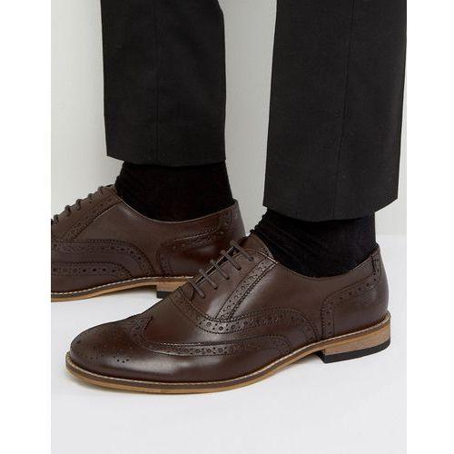braker brogues in brown leather - brown marki Dune