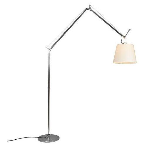 Artemide lampa podłogowa aluminiowa z kloszem - Artemide Tolomeo Mega Terra