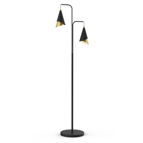 Raalto fl-433128-2 lampa podłogowa nowoczesna czarny złoty gabinetowa marki Italux