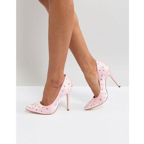 embellished pointed heeled shoes - pink marki London rebel
