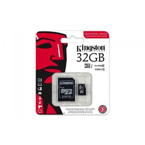 Kingston microsd 32gb cl10 uhs-i 90/45mb/s industrial (sdcit/32gb)