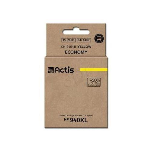 Actis Tusz  kh-940yr (do drukarki hewlett packard, zamiennik hp 940xl c4909ae standard 35ml yellow)