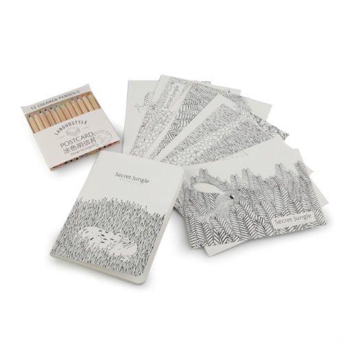 Kreatywny zestaw do kolorowania - pocztówki, kredki, notatnik