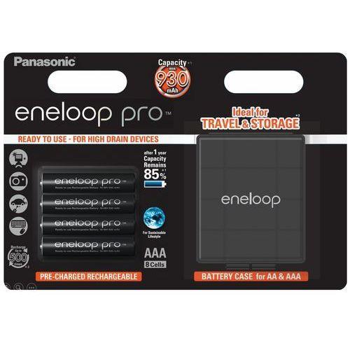 Panasonic 4 x akumulatorki eneloop pro r03 aaa 930mah bk-4hcdec4be (blister + box)
