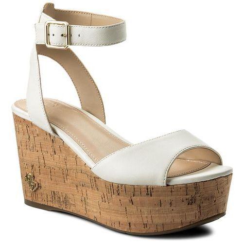 Sandały GUESS - Nicolla FLNIC1 LEA03 CREAM