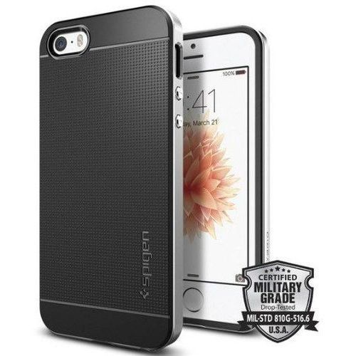 Obudowa Spigen Neo Hybrid Carbon Apple iPhone 5 / 5S / SE Satin Silver - Satin Silver