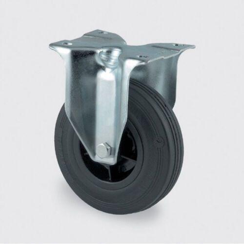 Koła przemysłowe z maksymalnym obciążeniem 70-205 kg, czarna guma