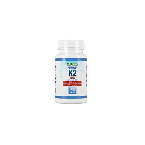 Myvita Naturalna witamina k2 mk-7 max 200mcg 60 tabletek menachinon-7 natto
