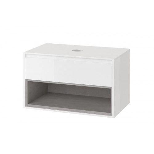 EXCELLENT TUTO Szafka podumywalkowa 80, biały/beton MLEX.0102.800.WHCO, MLEX.0102.800.WHCO