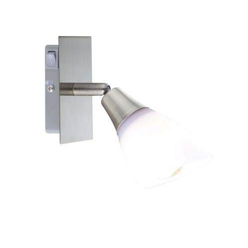 Globo Kinkiet oprawa lampa ścienna frank 1x40w e14 platyna, biały 5451-1
