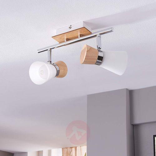 2-punktowa drewniana lampa sufitowa Vivica (4251096523515)