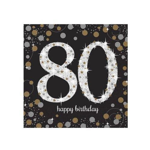 Serwetki na osiemdziesiąte urodziny - 33cm - 16 szt.
