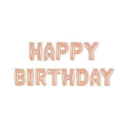 Zestaw balonów Happy Birthday różowe złoto - 36 cm - 1 szt. (0011179536689)