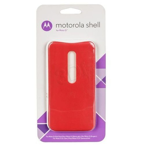 "Etui do telefonu asmcalclrchry-m (5"" do moto g 3 gen czerwony) marki Motorola"