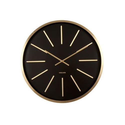 Karlsson:: Zegar ścienny Maxiemus Brass Station Black, kolor szary