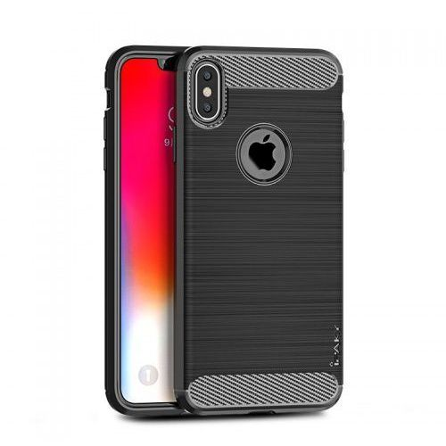 Etui Ipaky Drawing Carbon Iphone XS Max Czarne (7426825354792)