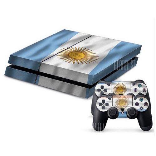 Argentine Flag Style Game Console Gamepad Controller Stickers Skin for PS4 - sprawdź w wybranym sklepie