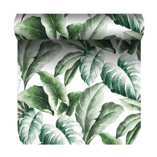 Grandeco Tapeta w liście green leaf zielona winylowa na flizelinie