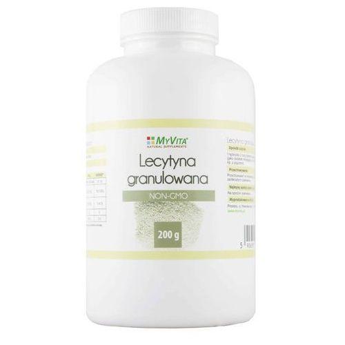 Lecytyna sojowa granulowana NON-GMO lecithin 200g MyVita