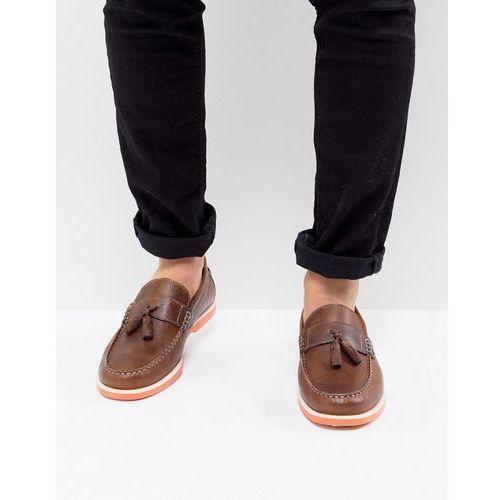 KG By Kurt Geiger Tassel Boat Shoes In Brown - Brown