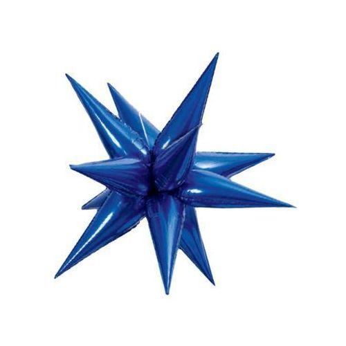 Balon foliowy 3d gwiazda niebieska - 102 cm - 1 szt. (0011179557752)